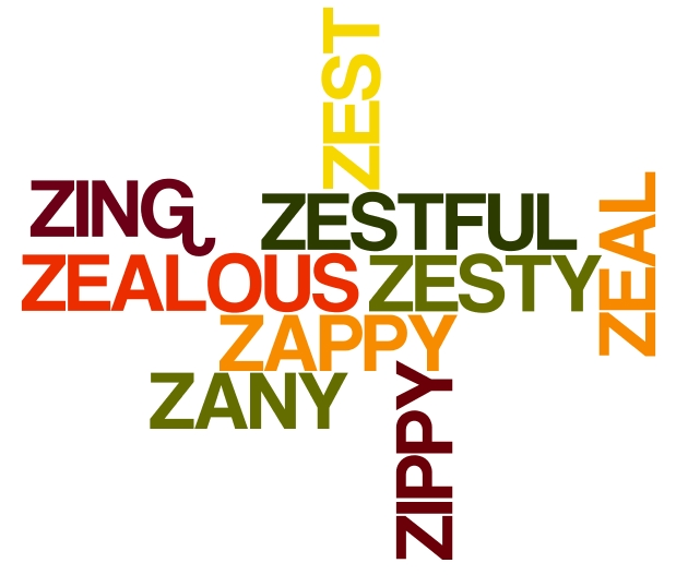 Positive Words Cloud starting with letter Z – Positive Words